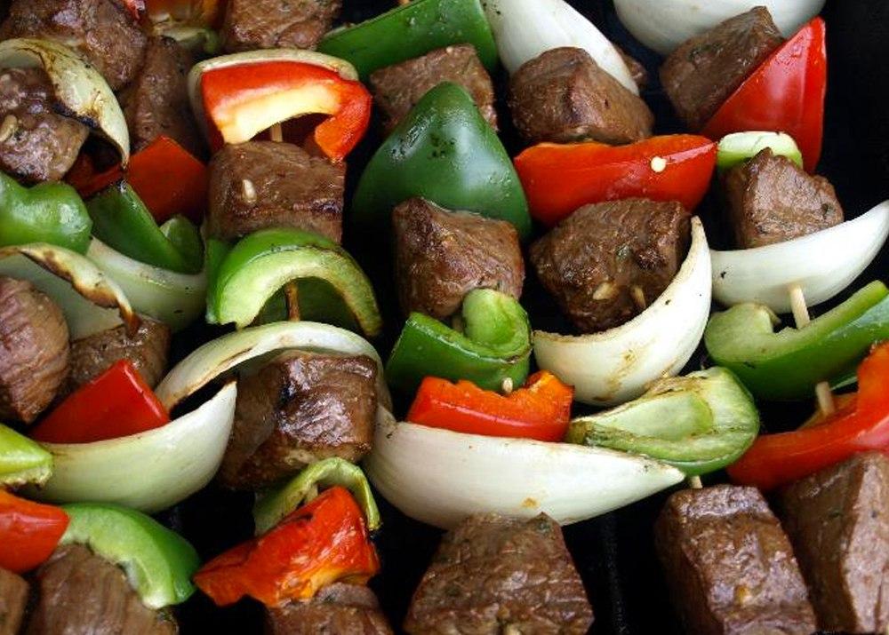 Beef and Vegetable Kebab