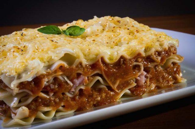 Simply Lasagne on a plate