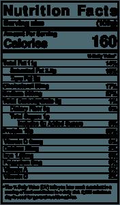 Kobassa- Nutritional Label