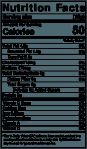 Sremska - Nutritional Label